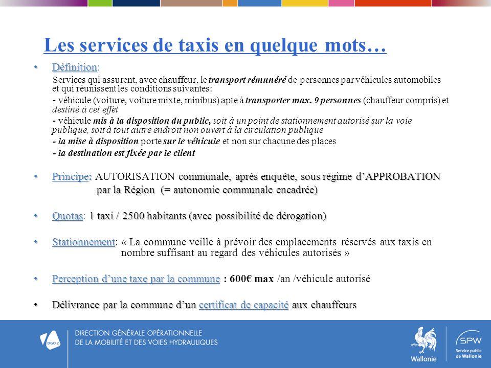 Les services de taxis en quelque mots…
