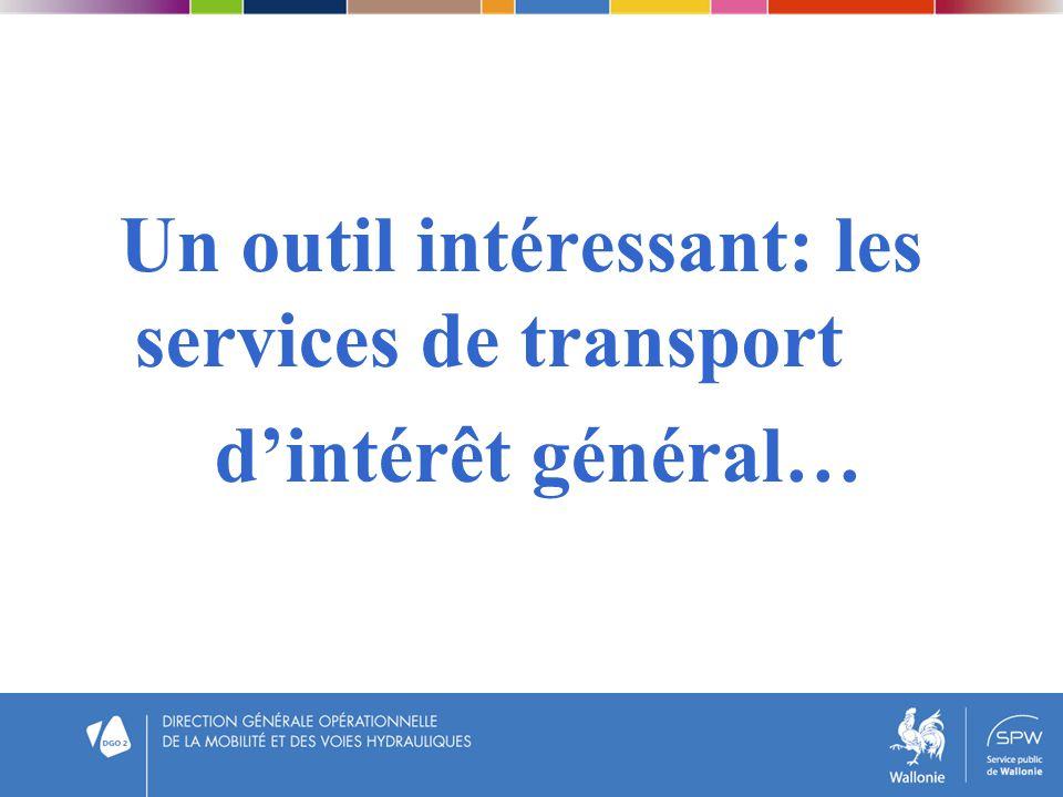 Un outil intéressant: les services de transport