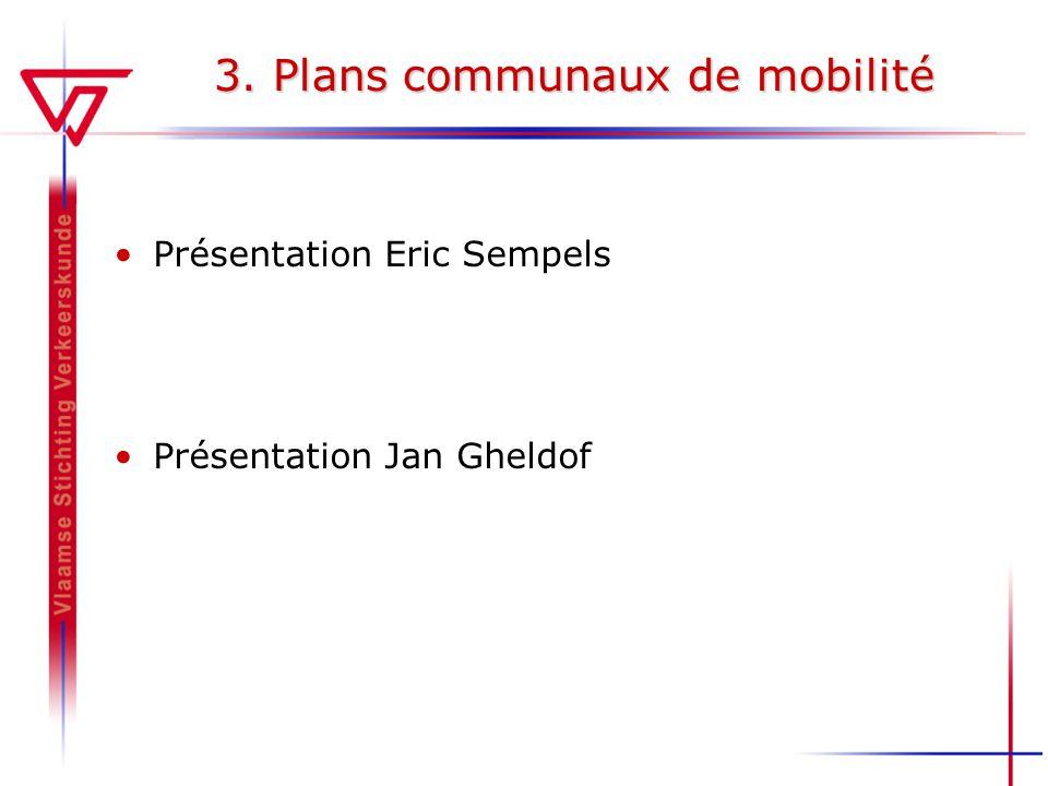 3. Plans communaux de mobilité