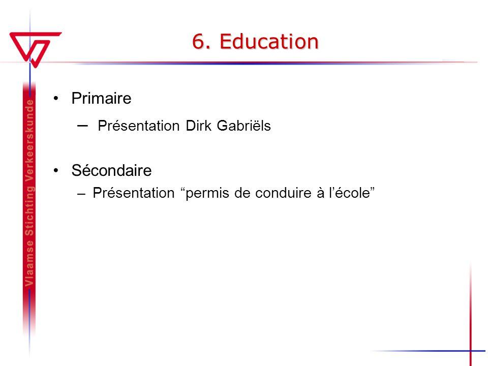 6. Education Présentation Dirk Gabriëls Primaire Sécondaire