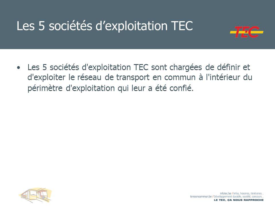 Les 5 sociétés d'exploitation TEC