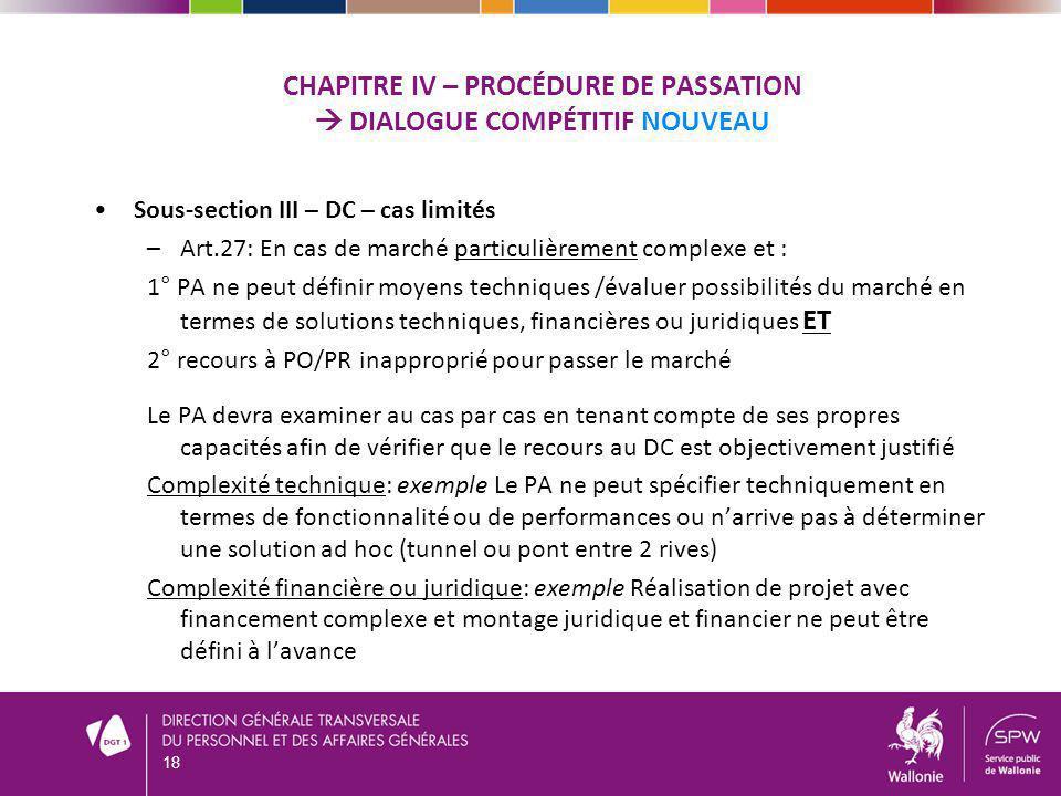 Chapitre iv – procédure de passation  dialogue compétitif NOUVEAU