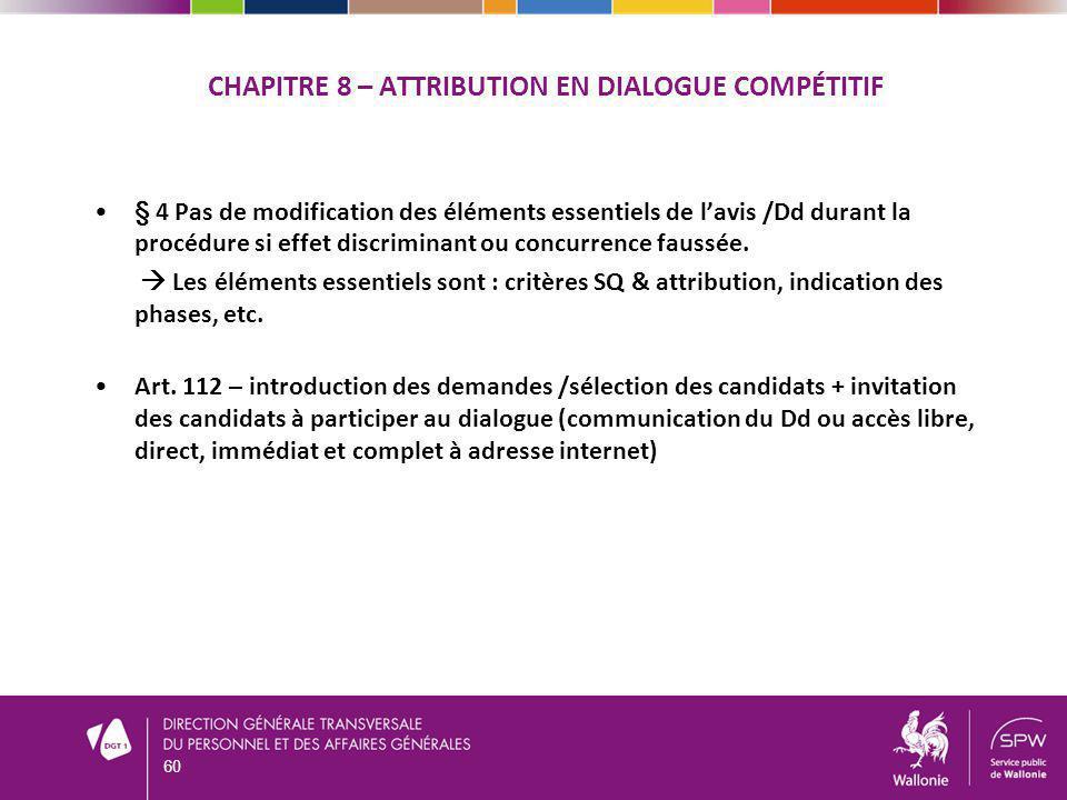 Chapitre 8 – Attribution en dialogue compétitif