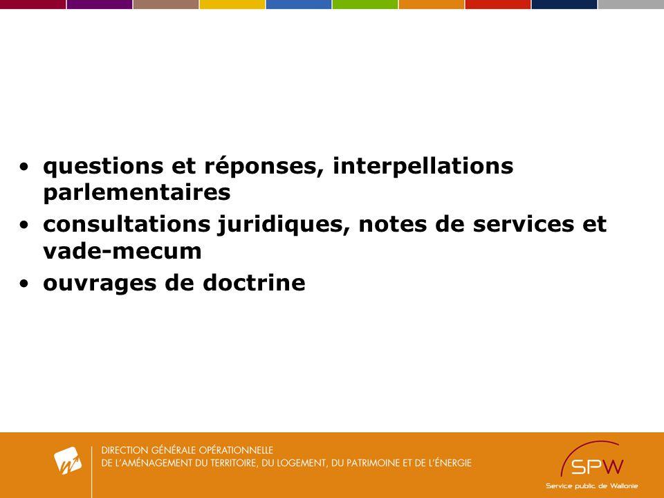 questions et réponses, interpellations parlementaires
