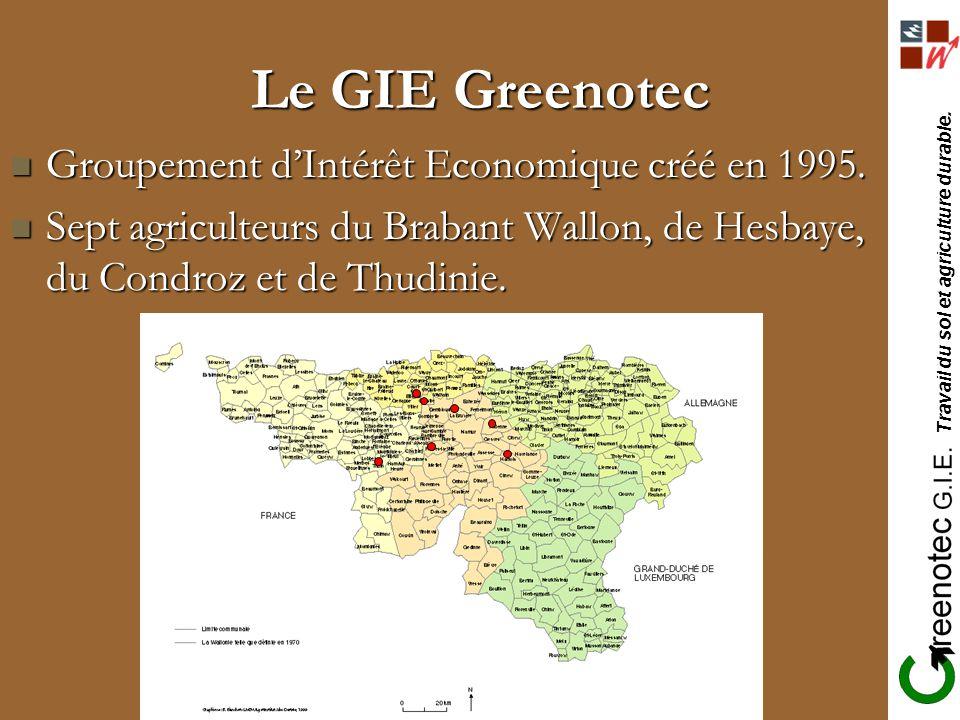 Le GIE Greenotec Groupement d'Intérêt Economique créé en 1995.