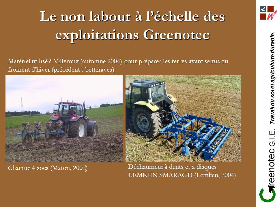 Le non labour à l'échelle des exploitations Greenotec