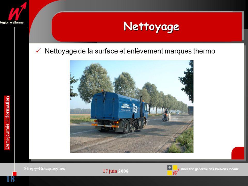 Nettoyage 18 Nettoyage de la surface et enlèvement marques thermo