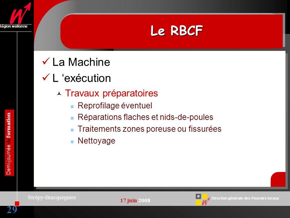 Le RBCF La Machine L 'exécution 29 Travaux préparatoires