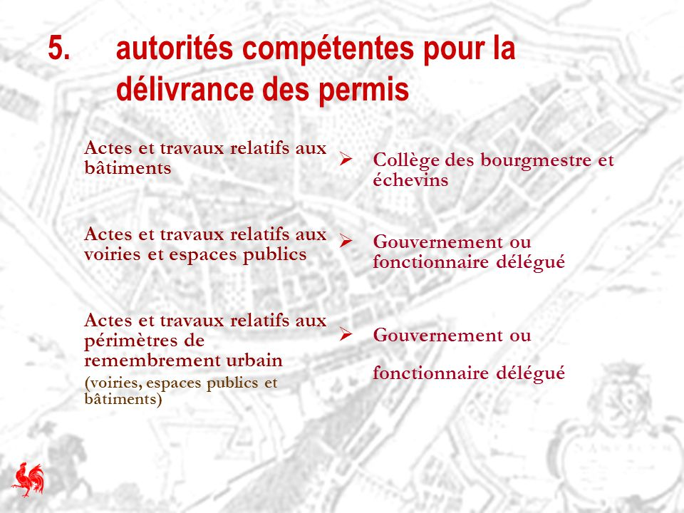 5. autorités compétentes pour la délivrance des permis
