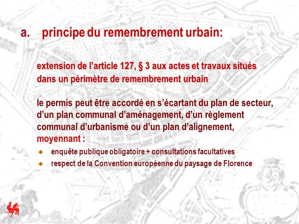 a. principe du remembrement urbain: