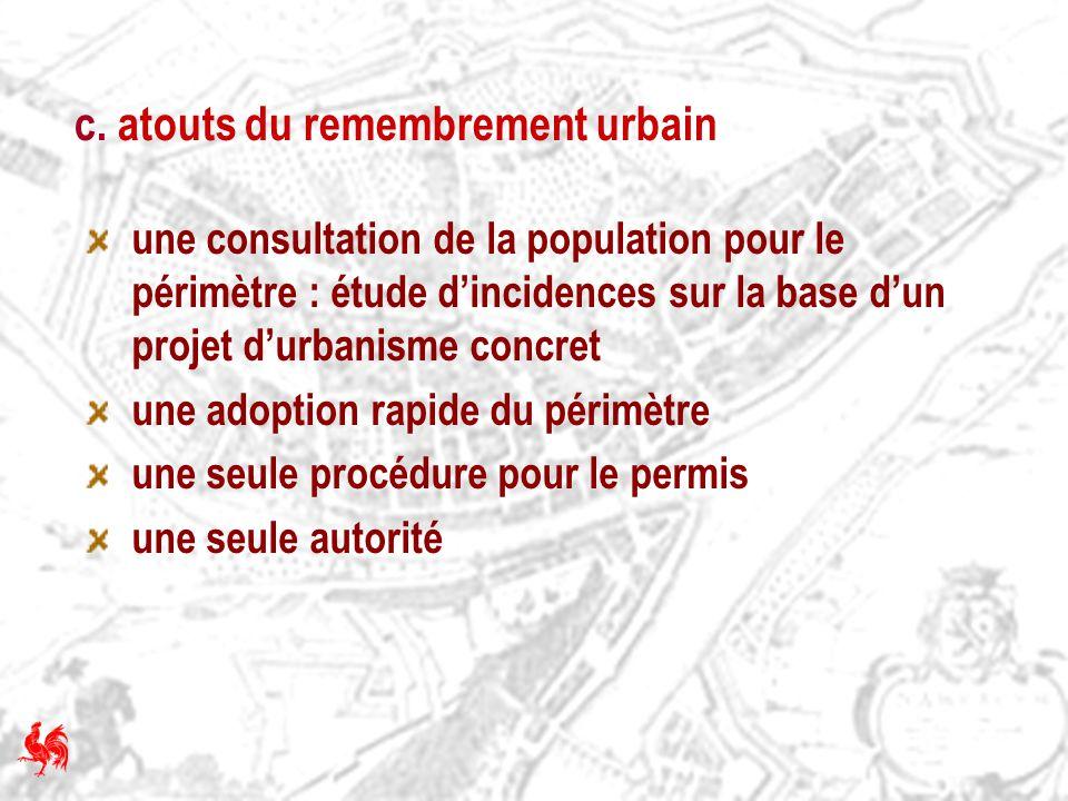 c. atouts du remembrement urbain