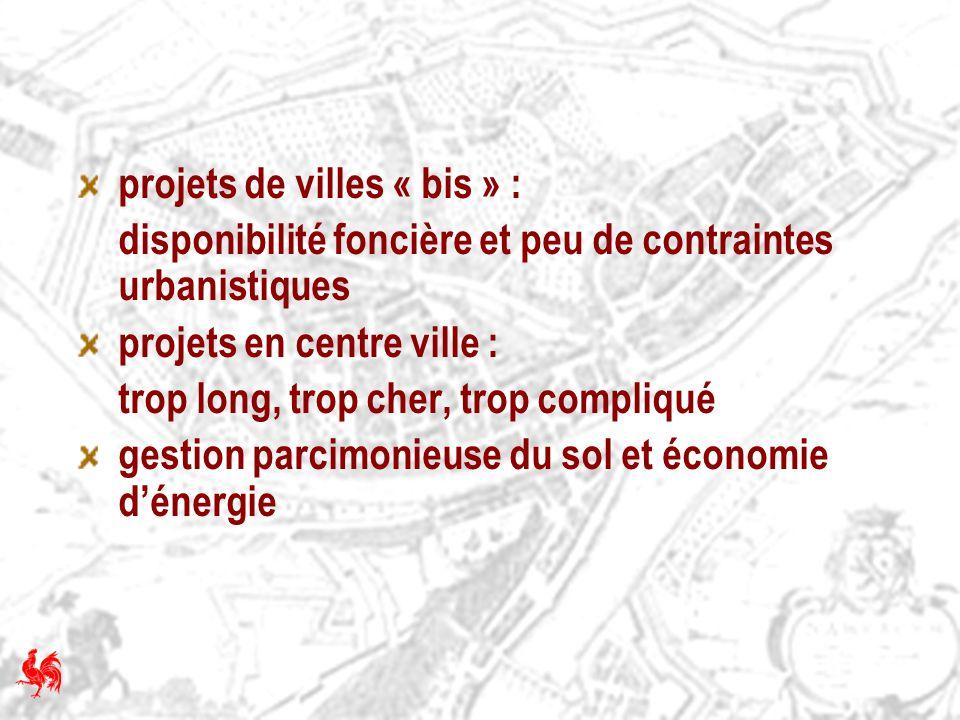 projets de villes « bis » :