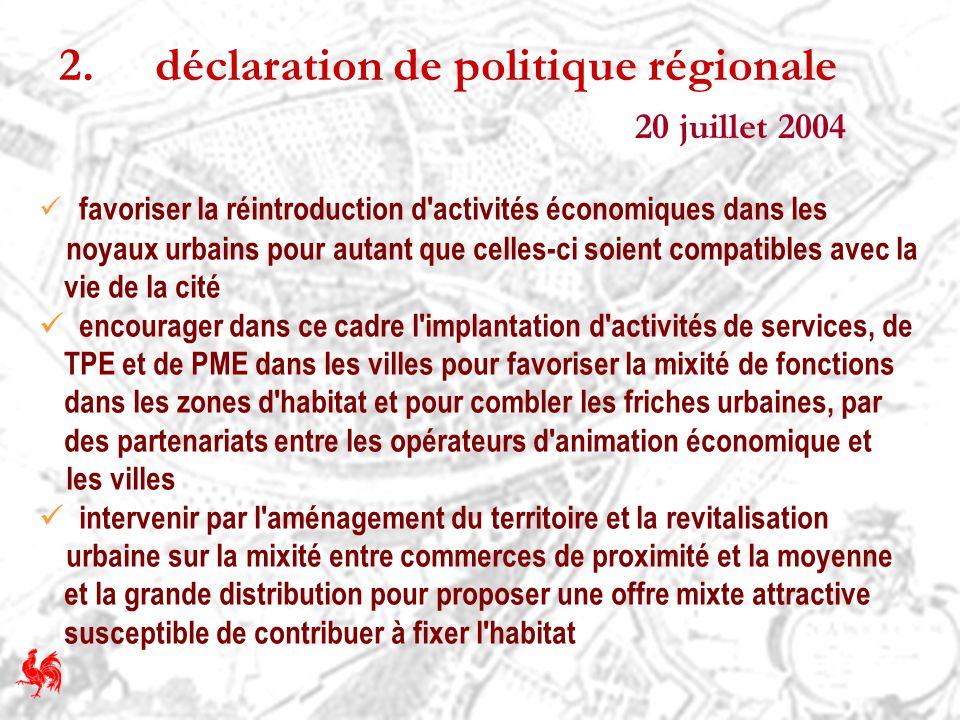 2. déclaration de politique régionale 20 juillet 2004