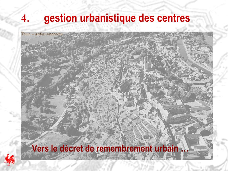 4. gestion urbanistique des centres