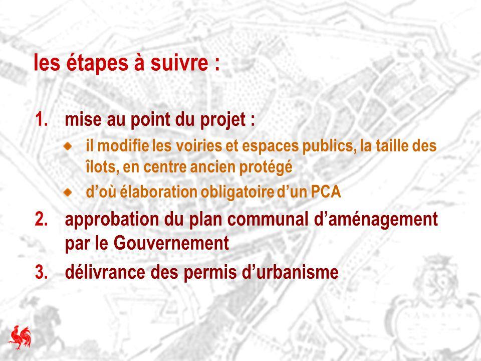 les étapes à suivre : mise au point du projet :