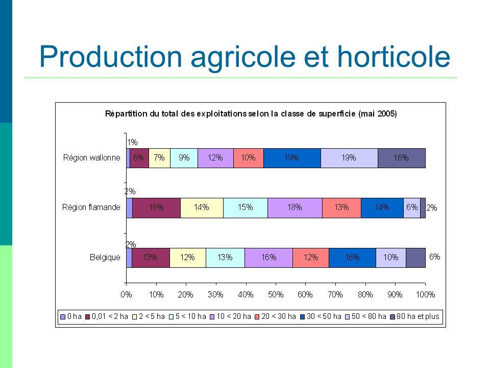 Production agricole et horticole