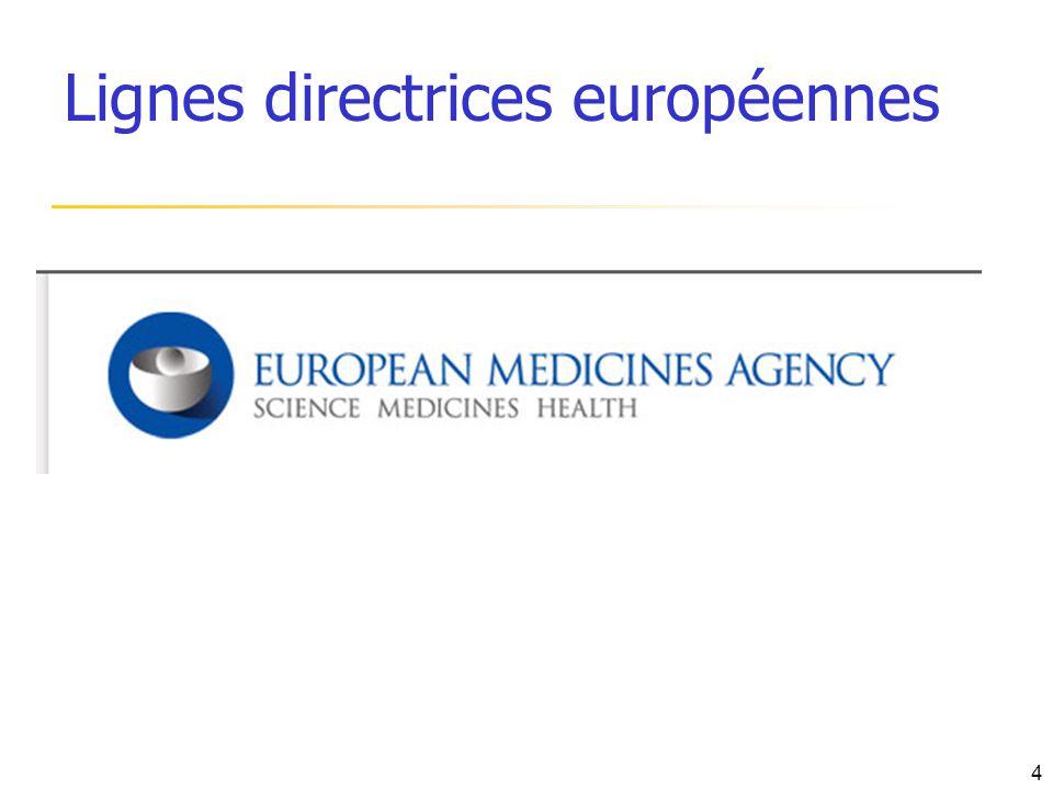 Lignes directrices européennes