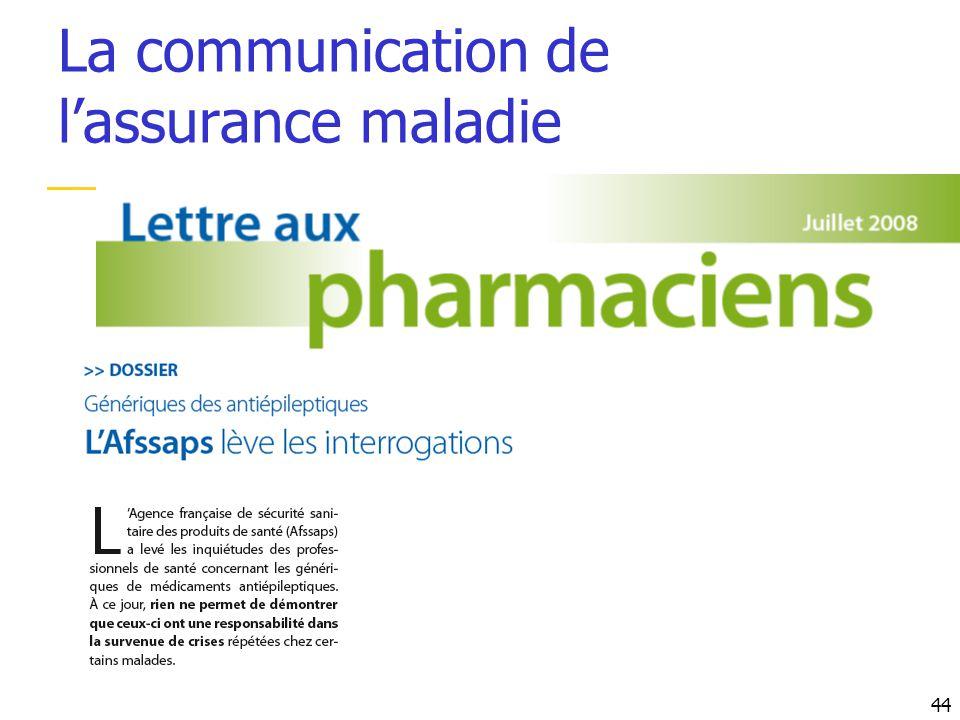 La communication de l'assurance maladie