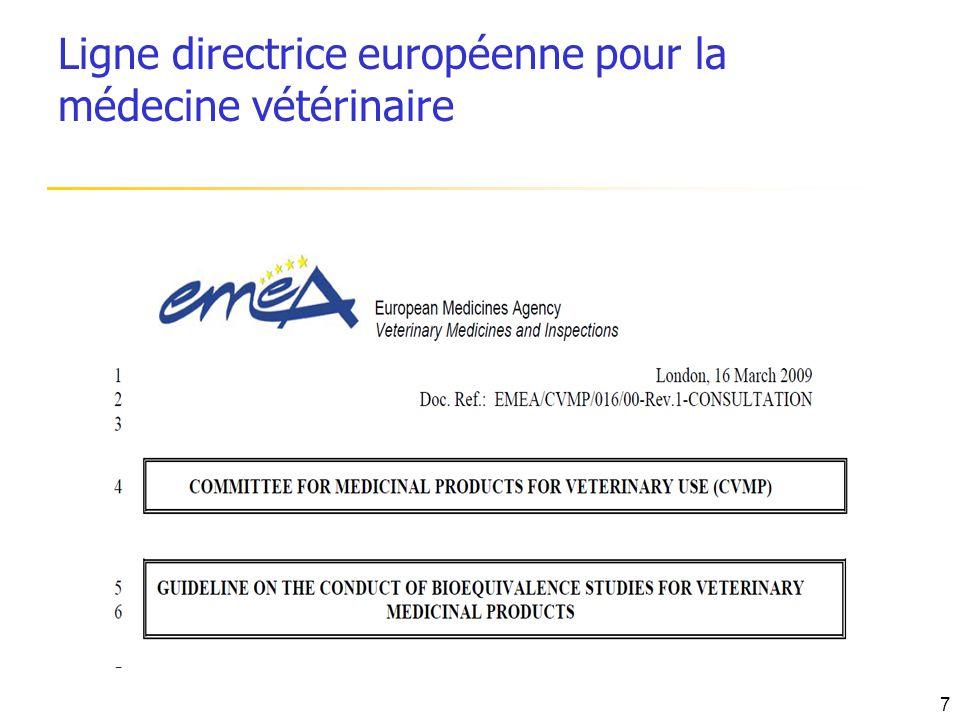Ligne directrice européenne pour la médecine vétérinaire