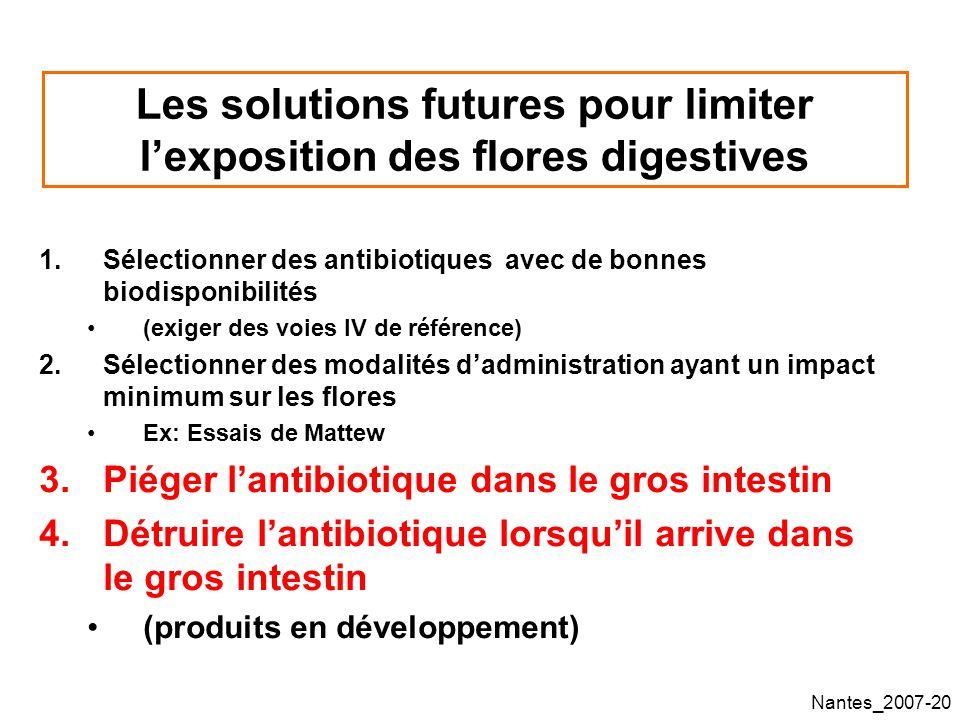Les solutions futures pour limiter l'exposition des flores digestives