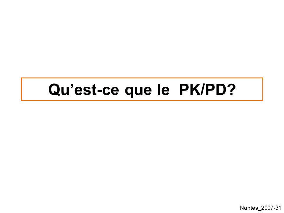 Qu'est-ce que le PK/PD