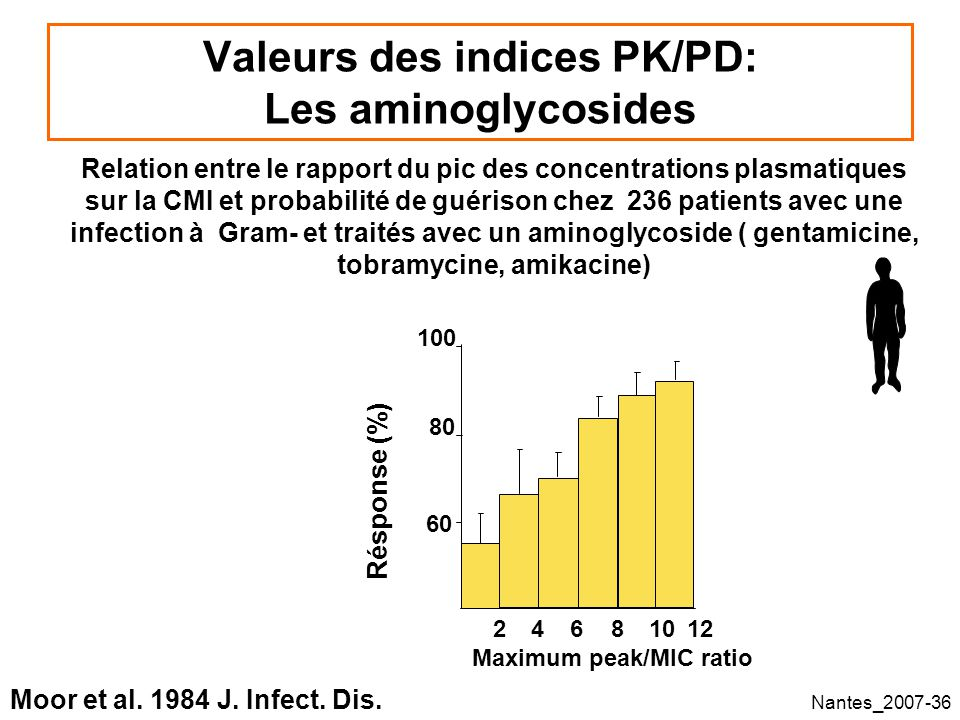 Valeurs des indices PK/PD: Les aminoglycosides