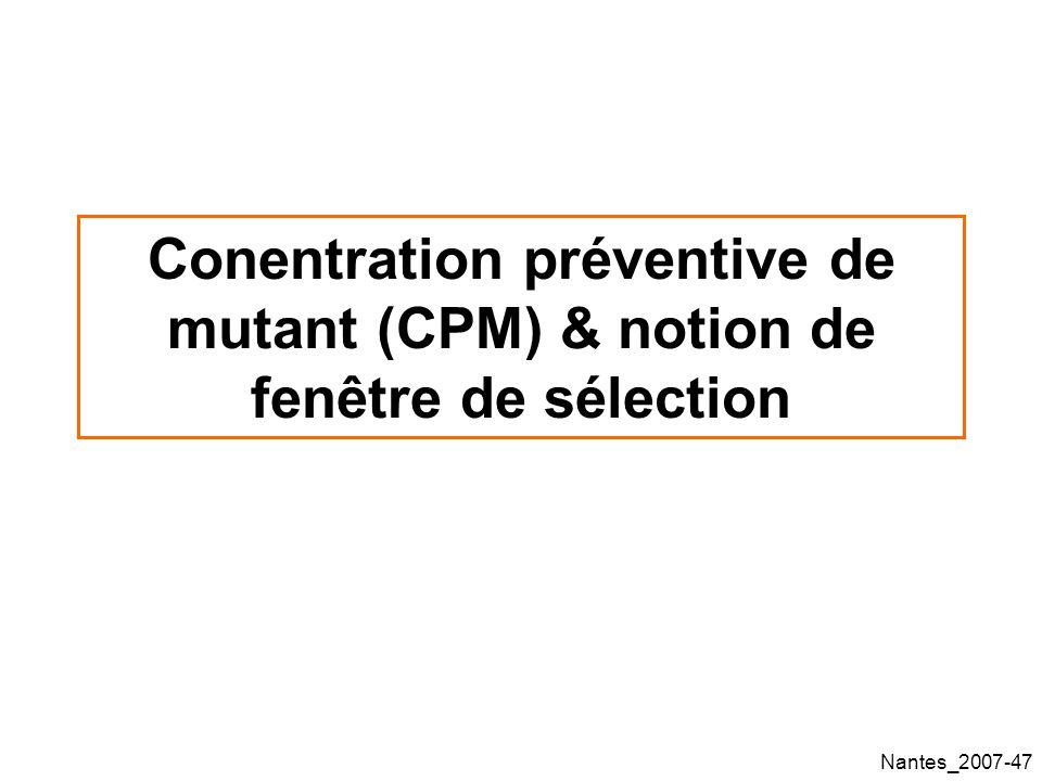 Conentration préventive de mutant (CPM) & notion de fenêtre de sélection