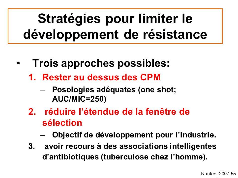 Stratégies pour limiter le développement de résistance
