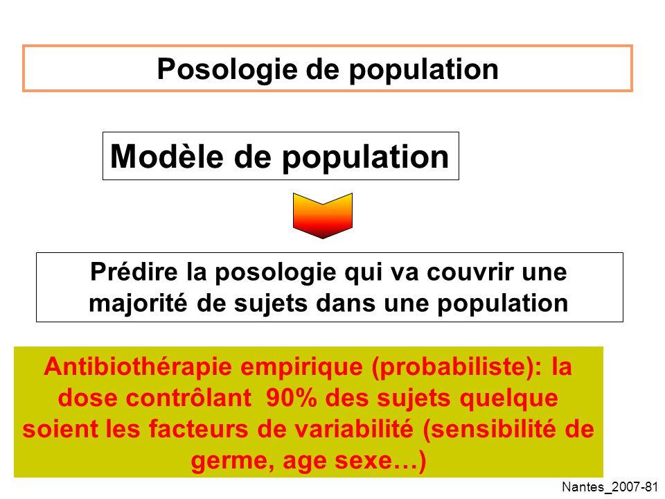 Posologie de population
