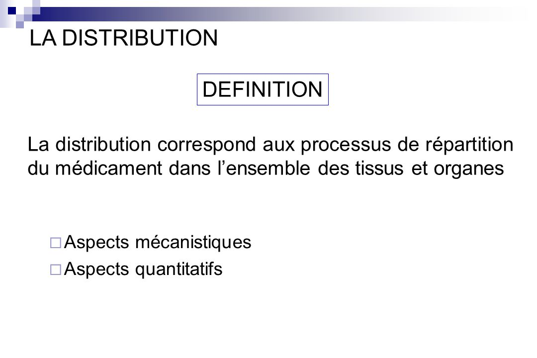 LA DISTRIBUTION DEFINITION