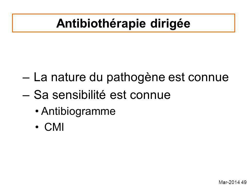 Antibiothérapie dirigée
