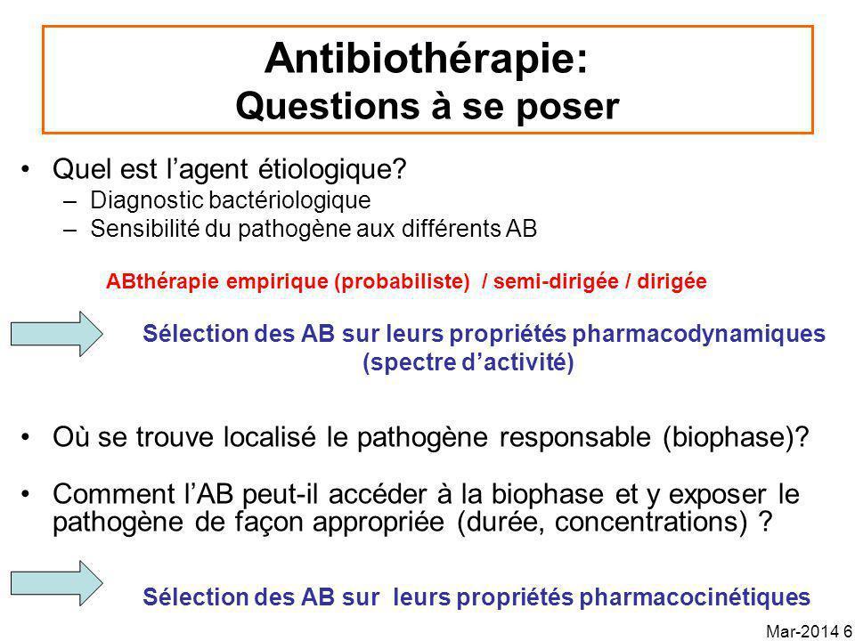Antibiothérapie: Questions à se poser