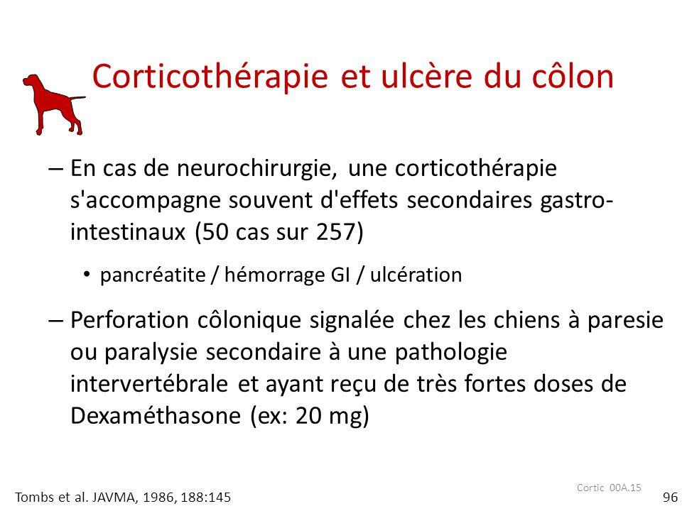 Corticothérapie et ulcère du côlon