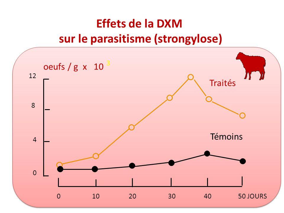 sur le parasitisme (strongylose)