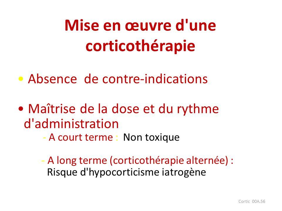 Mise en œuvre d une corticothérapie