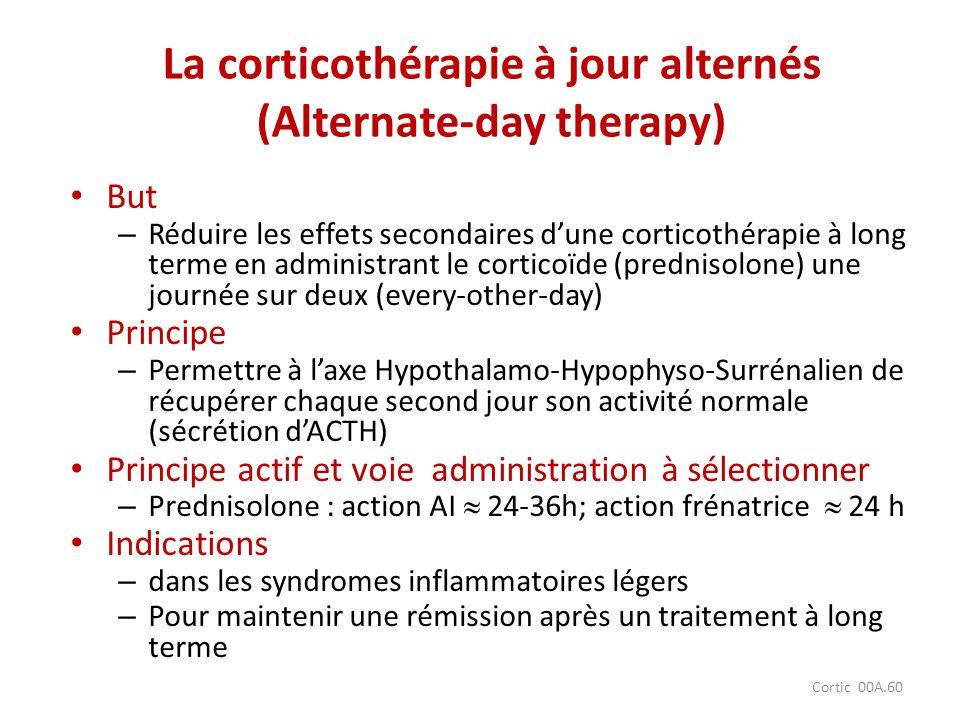 La corticothérapie à jour alternés (Alternate-day therapy)