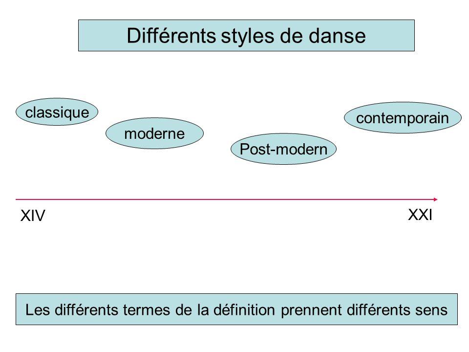 Différents styles de danse