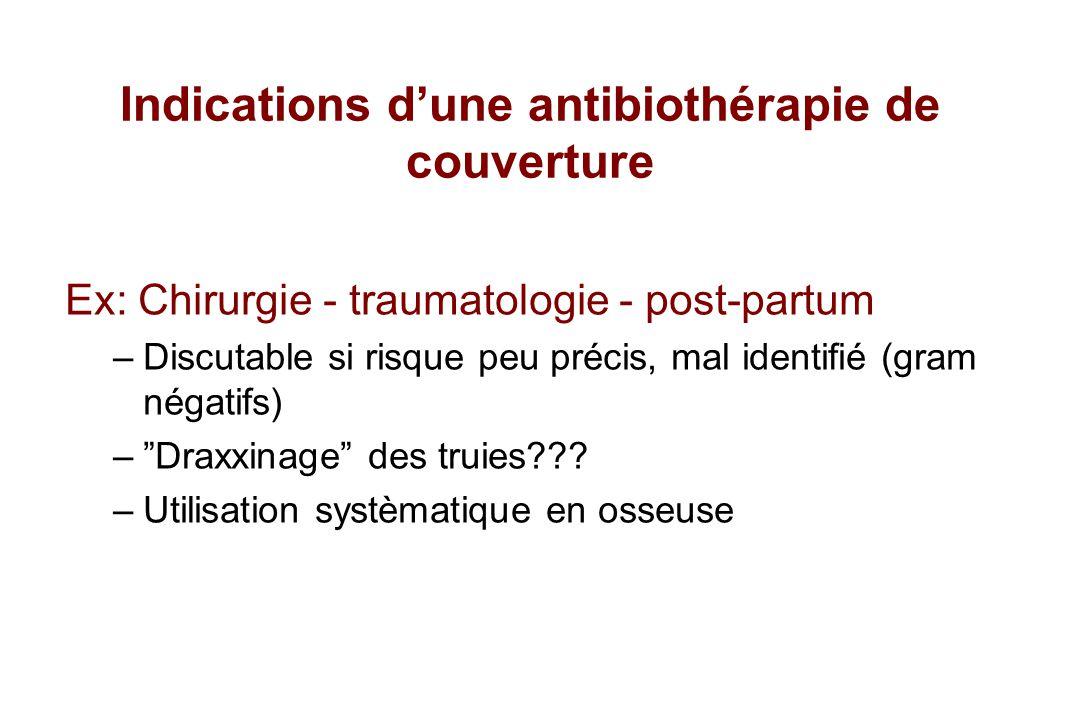 Indications d'une antibiothérapie de couverture
