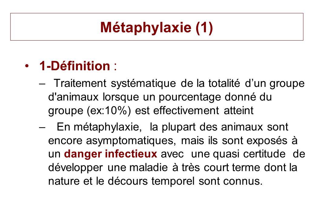 Métaphylaxie (1) 1-Définition :