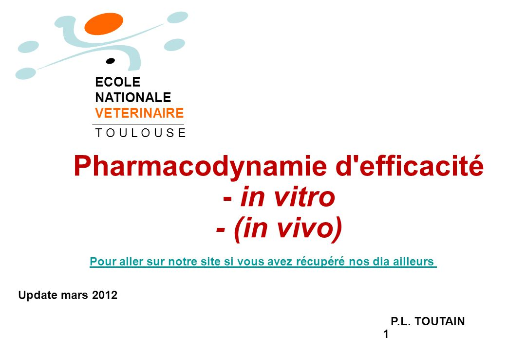 Pharmacodynamie d efficacité - in vitro - (in vivo)