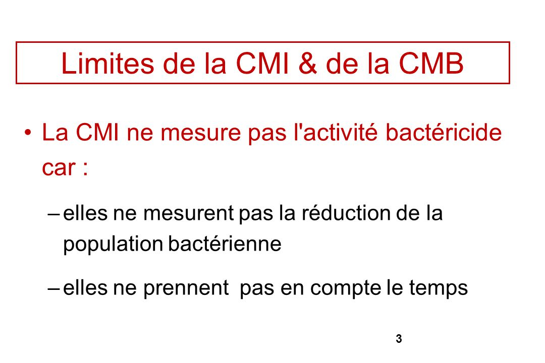 Limites de la CMI & de la CMB