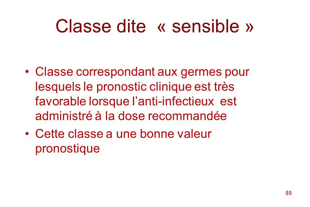 Classe dite « sensible »