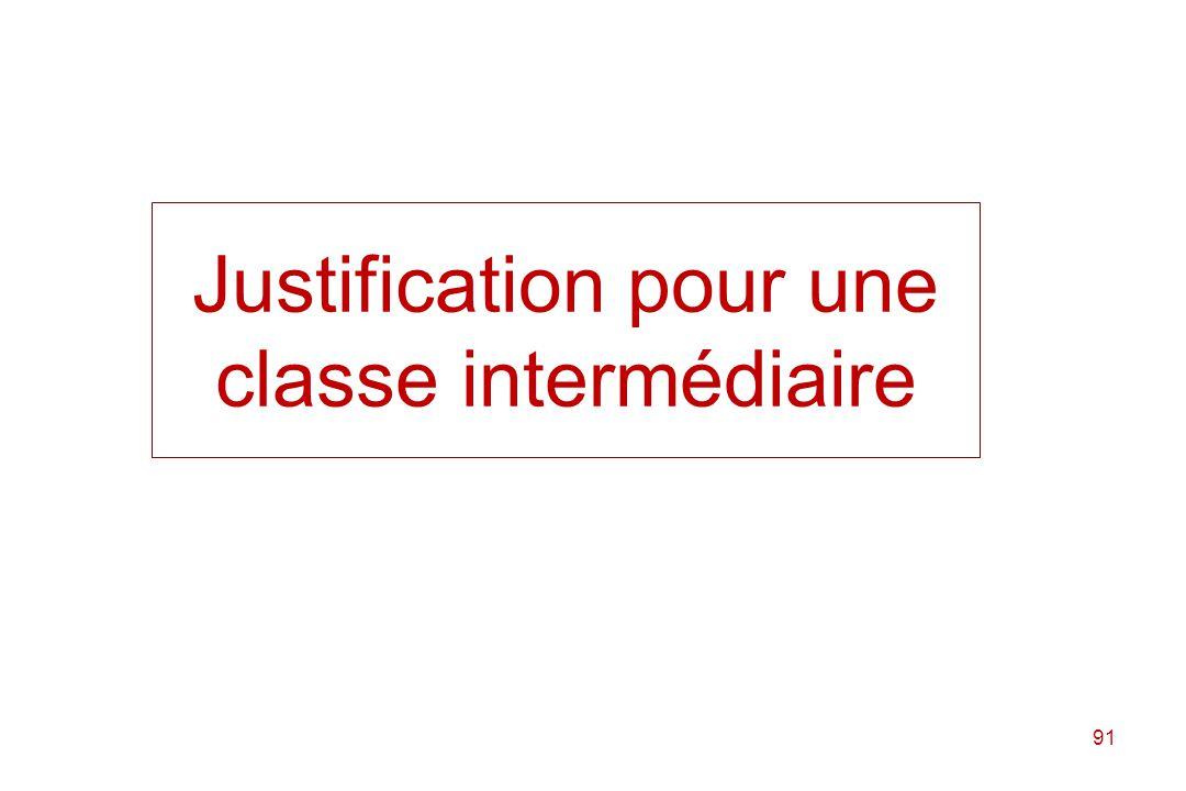 Justification pour une classe intermédiaire