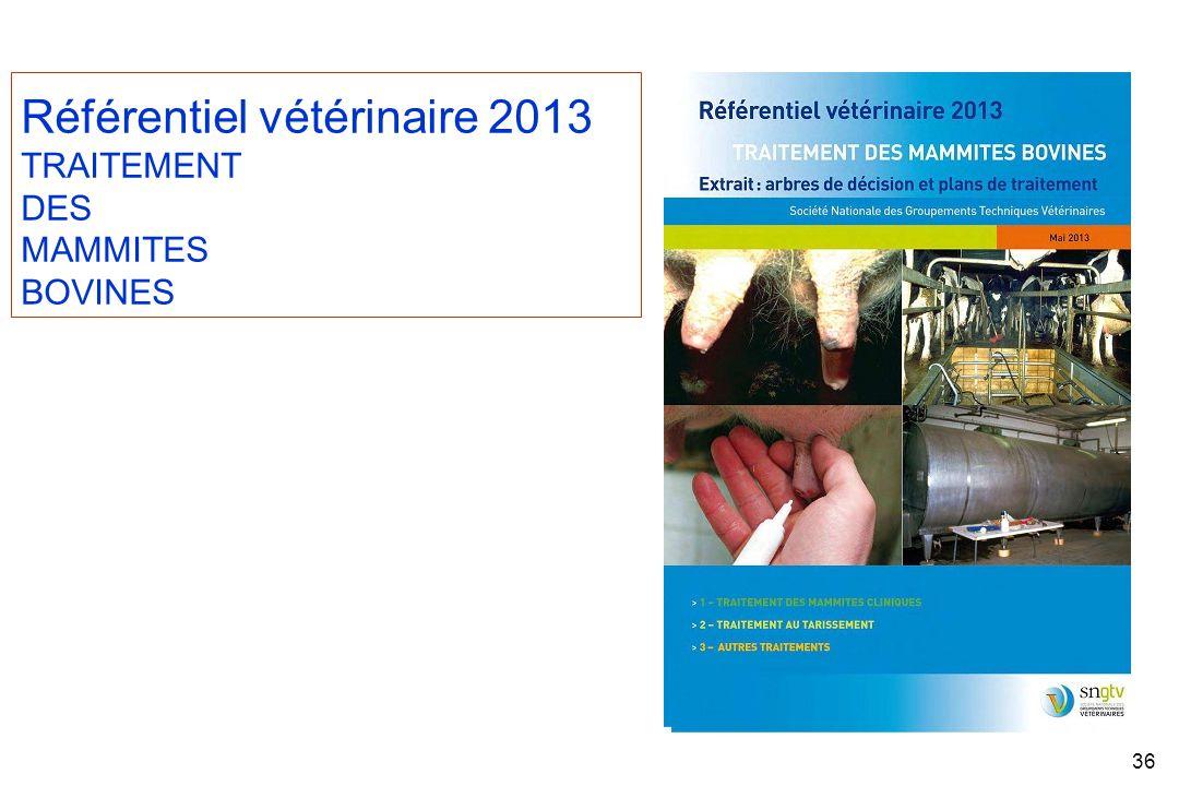 Référentiel vétérinaire 2013