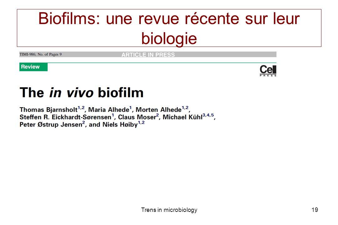 Biofilms: une revue récente sur leur biologie
