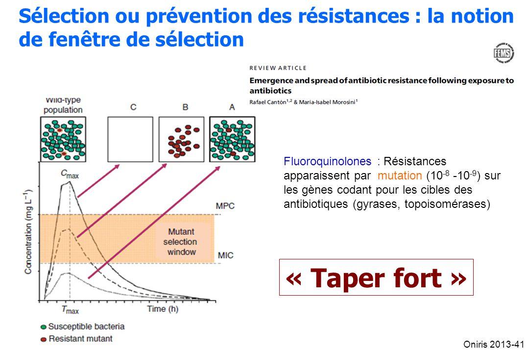 Sélection ou prévention des résistances : la notion de fenêtre de sélection