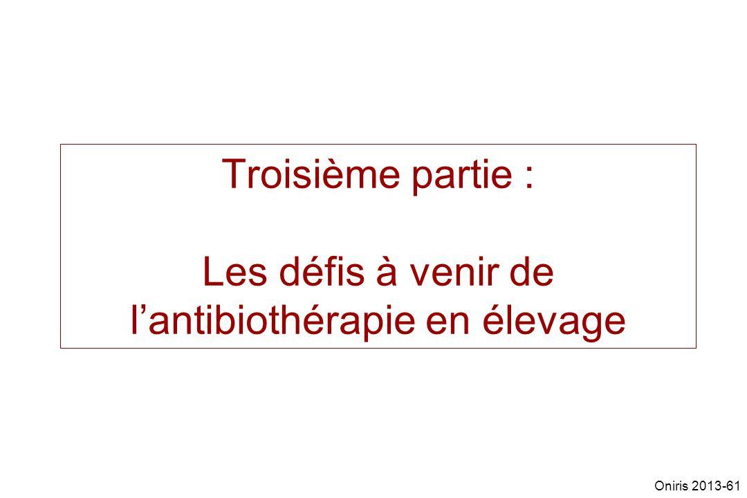 Troisième partie : Les défis à venir de l'antibiothérapie en élevage