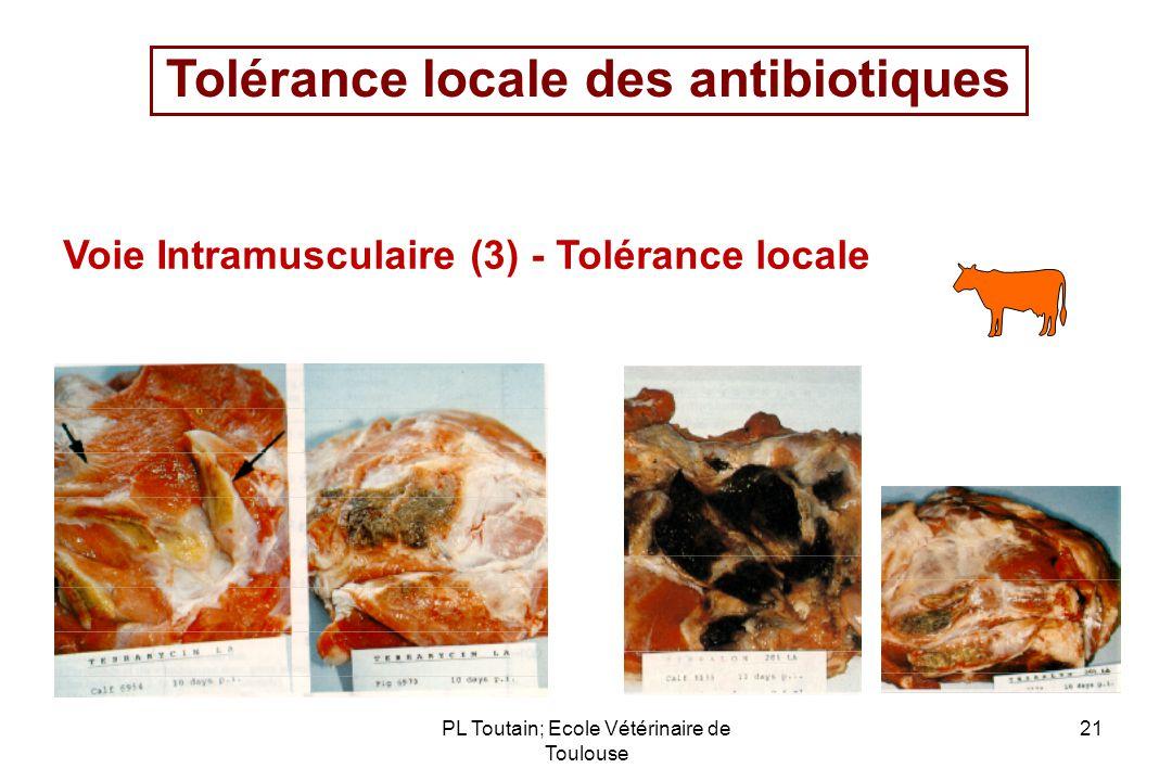 Tolérance locale des antibiotiques
