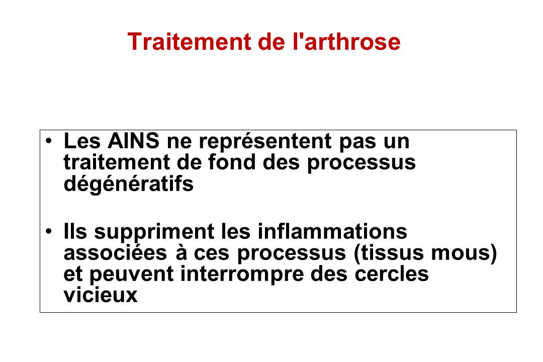 Traitement de l arthrose