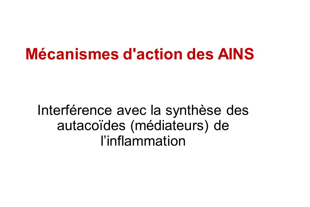 Mécanismes d action des AINS